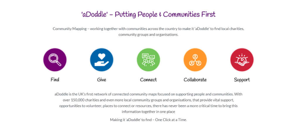 aDoddle's website description including aDoddle's why, and how many people it has reached.